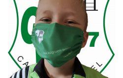 Masken für Grün-Weiss Korfball Spieler